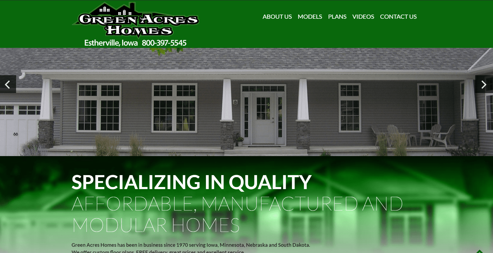 Green acres homes webwise solutions for Acreage home builders